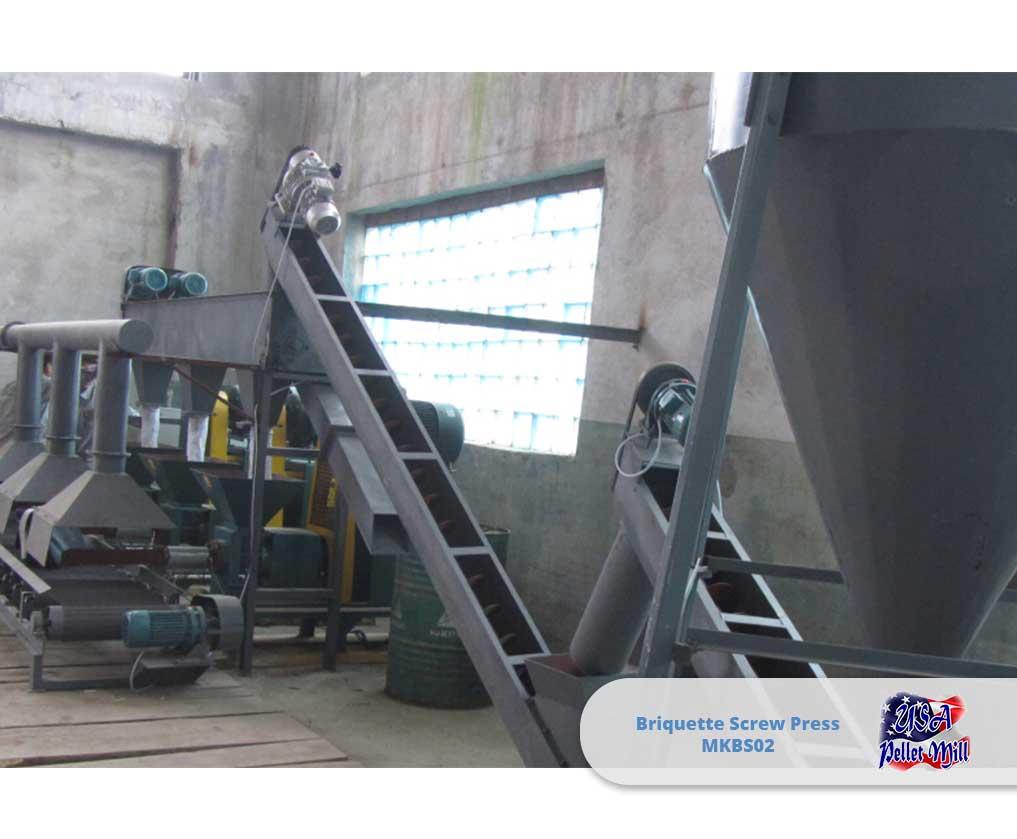 Briquette Screw Press 800 lbs-hr MKBS02